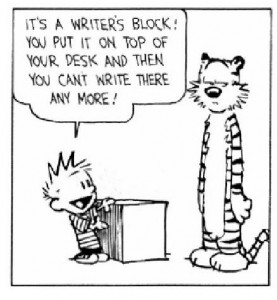 Writers Block Calvin and Hobbs