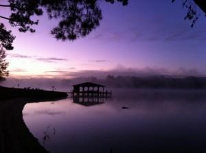 lake sunrise color