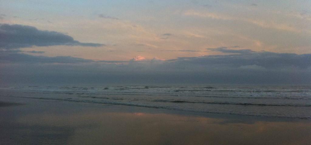 sunset misty blue