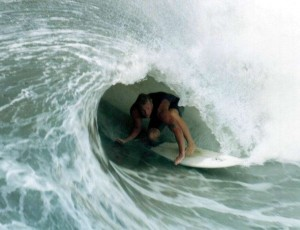 surfing barrel