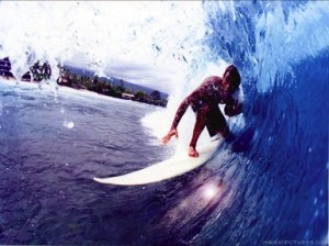 surfing perfect wave