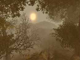 gothic trees mountain
