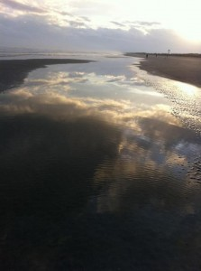 clouds sea storm tidal pool