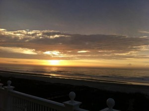 clouds sea sun dawn