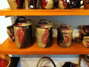 HF Pottery canisters