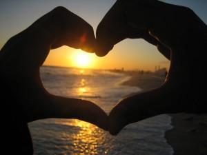 love hands ocean