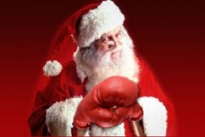 santa fighting gloves