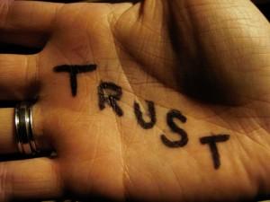 trust hand