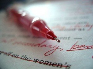 writing red pen