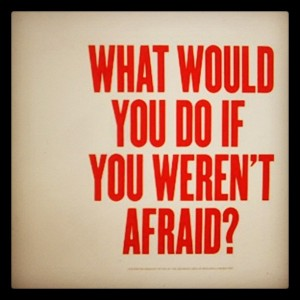 fear what would you do if you weren't afraid