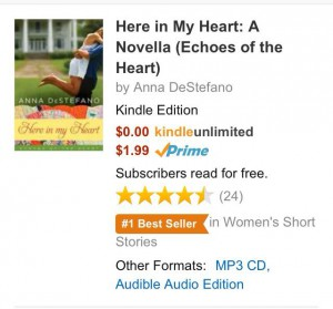 Num 1 women's short story on Amazon