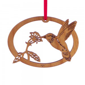 hummingbird ornament circular flower_